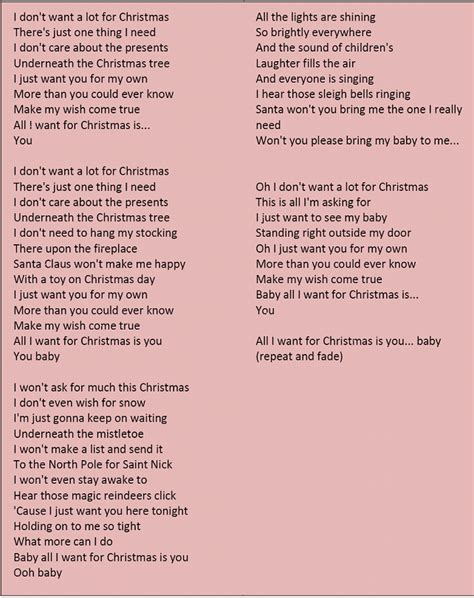 lyrics cause i about my 1000 images about carols on