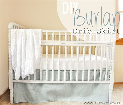 The Easiest Diy Crib Skirt Tutorial Ever Cherished Bliss Crib Bed Skirt Diy