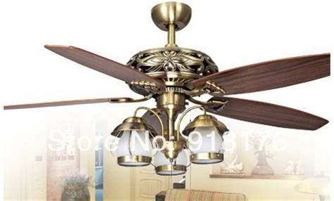European Antique Ceiling Fan Light 52 Inch Fashion Fans Dining Room Ceiling Fans With Lights