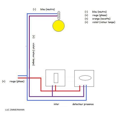 Interrupteur Detecteur De Mouvement Va Et Vient by Brancher D 233 Tecteur De Pr 233 Sence Sur Un Va Et Vient