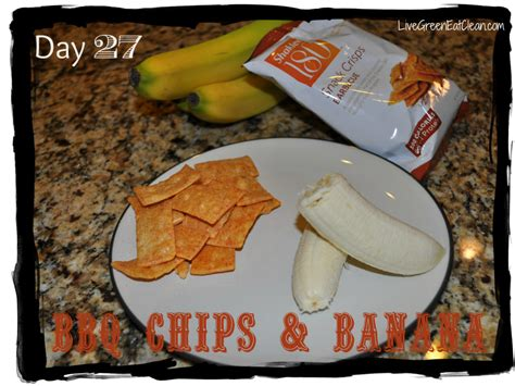 Snack Cemilan Bangnana Chips Barbeque 30 days of snacks day 27 bbq chips banana live green eat clean