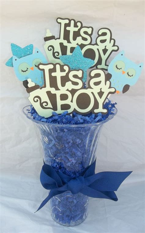 It S A Boy Centerpiece Baby Boy Baby Shower Owl Themed Baby Centerpiece For Baby Shower
