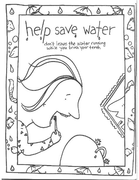 help save water education coloring pages conservation