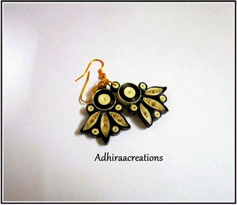 adhiraacreations quilling earring designs