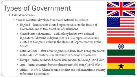 Type Of Government Types Of Government Unit Ppt