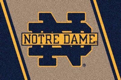 Notre Dame Area Rug Logos Fighting And Rugs On Pinterest