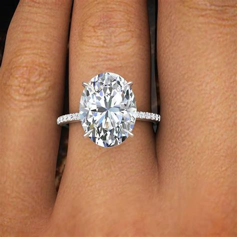 1 ct oval ring on 1 50 ct oval cut pave engagement ring