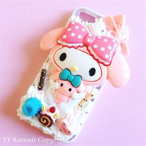 Silicone My Melody Pink Pita Iphone 4 4s 5 5s 6 6s 6plus 6splus my melody or kuromi kawaii silicone decoden phone for iphone 4s iphone 5 5s 5c or samsung