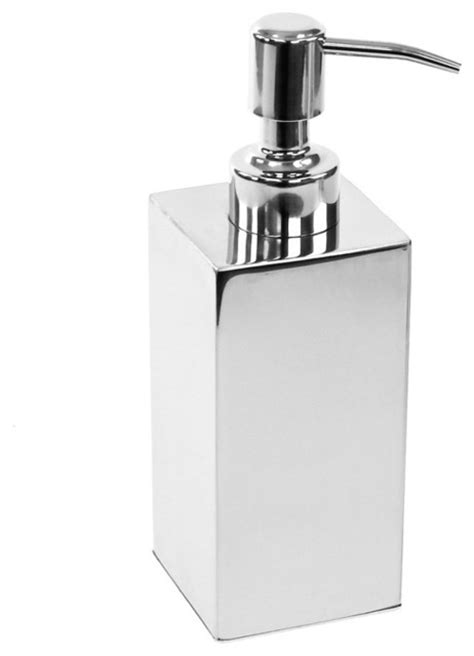 Modern Bathroom Soap Dispenser Modern Chrome Counter Soap Dispenser Modern Bathroom Accessories Other Metro By