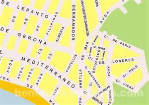 4c by Plano De Benidorm Zona 4c Benidorm Holidays Com