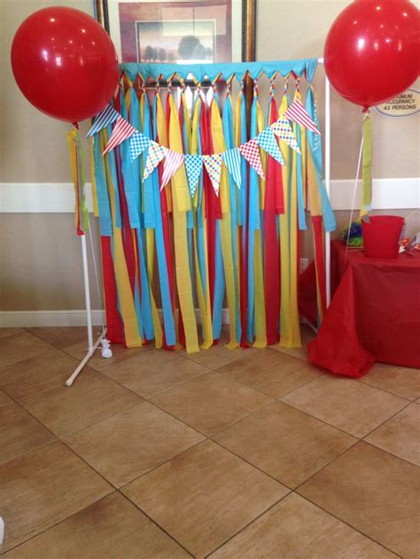 pvc decorations carnival photo booth pvc pipes plastic table covers and