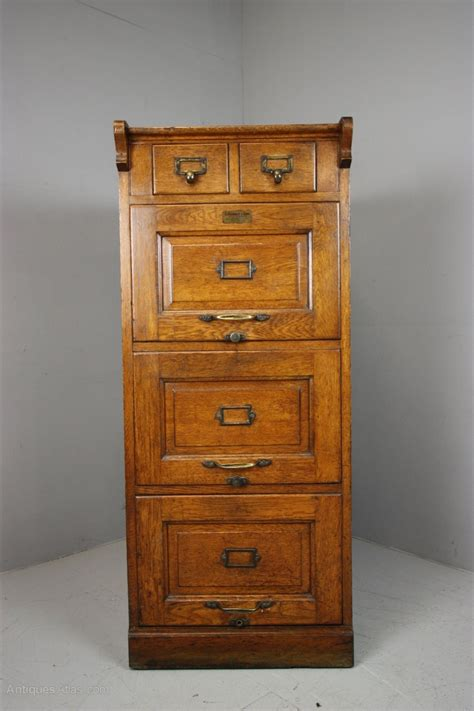 Edwardian Antique Oak Filing Cabinet.   Antiques Atlas
