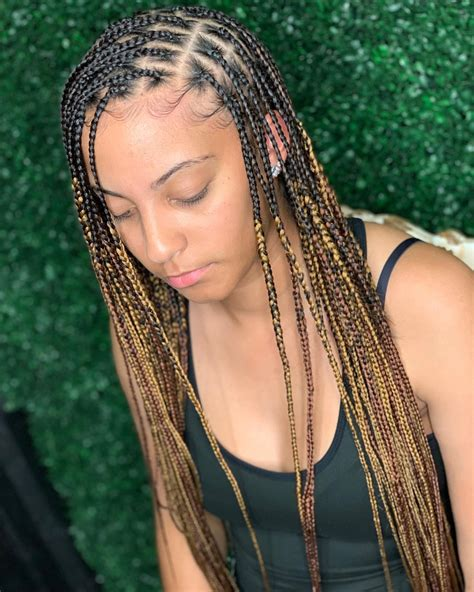 cool  trendy knotless box braids styles haircuts hairstyles