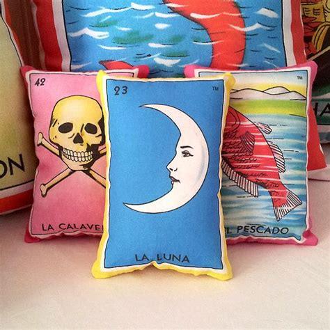 almohadas mexicanas clearance luna moon mexican loteria mini pillow