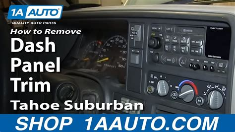 remove install dash panel trim   chevy