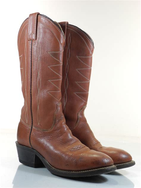 hh h 6 b womens boots brown cowboy western