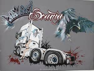 Painting Decorating Logos Scania Logo And Truck Design By Memoria Art On Deviantart