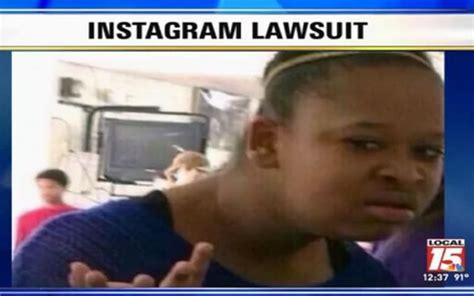 confused face meme girl keisha johnson suing instagram