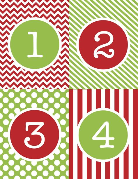 printable large numbers 1 25 christmas printable images gallery category page 7