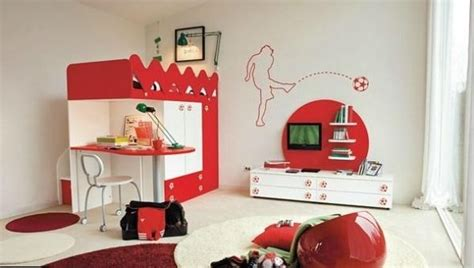 Kinderzimmer Ideen Fussball by Design Ideen Kinderzimmer Fu 223 Rot Wei 223 Kinderzimmer