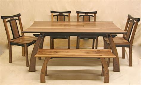 rustic japanese  teak wood dining table great room