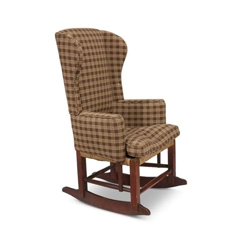 Wingback Rocking Chair by Country Birch And Maple Upholstered Wingback Rocking Chair