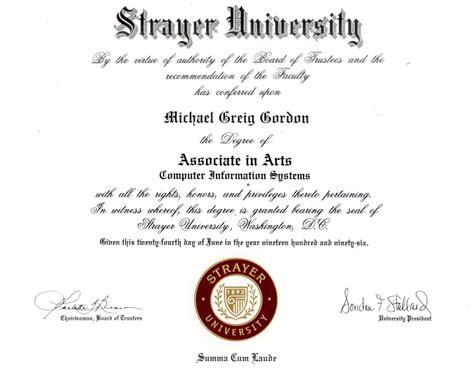 Strayer Mba Degree Programs by Michael G Gordon Html Resume