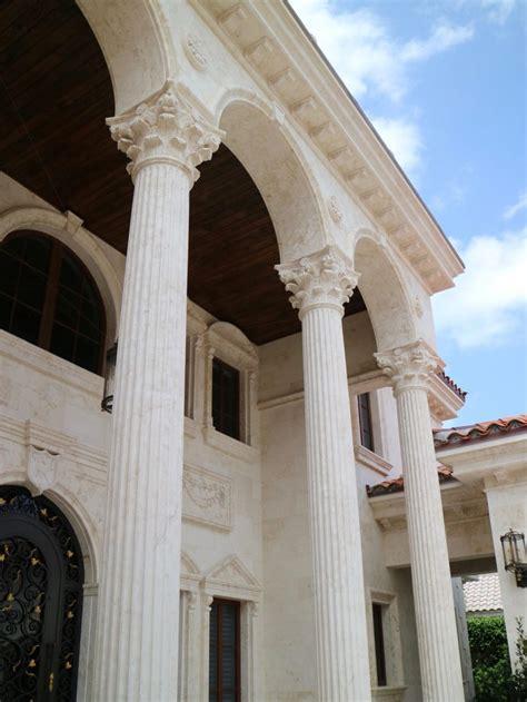 custom designed marble  stone columns  bt arch stone