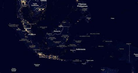 indonesia di hari inilah rupa indonesia di malam hari dari luar angkasa