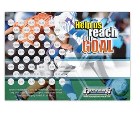 fundraising scratch card template soccer fundraising idea scratch cards for high profit