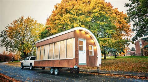 tiny house innovations solar powered pod as prototype for tiny house mobile office and more