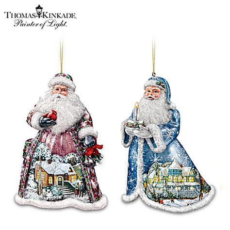 bradford exchange thomas kinkade santa claus christmas