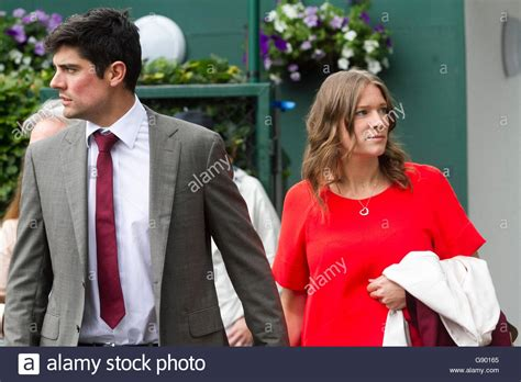 alastair cook wedding to alice hunt england cricket star wimbledon london uk 1st july 2016 england cricket