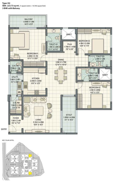 3bhk plan 3 bhk house plans in bangalore