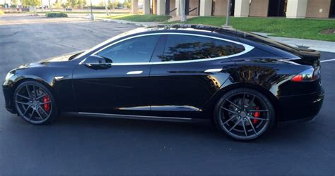 Custom Tesla 04 Tesla P85 22 Quot Custom Powder Coated Rims Tires Yelp