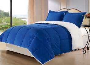 royal blue borrego blanket down alternative comforter set