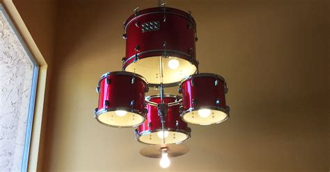 How To Make A Paper Drum Set - how to make a drum set chandelier