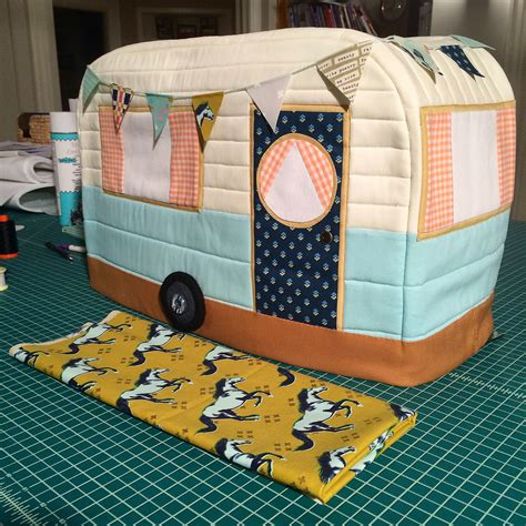 pattern for sewing machine cover retro caravan sewing machine cover ginger peach studio
