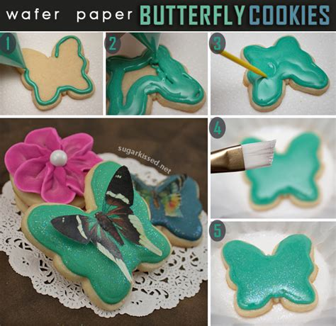 Butterfly Cookies Made With Wafer Paper | butterfly cookies made with wafer paper