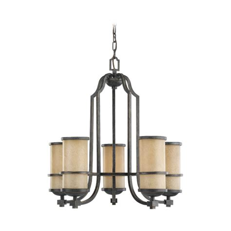 Nautical Chandeliers Nautical Chandelier With Beige Glass In Flemish