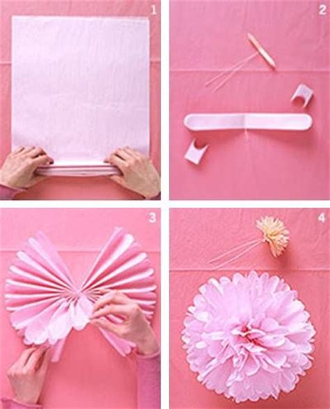 How To Make Tissue Paper Flowers Martha Stewart - martha stewart tissue paper pom poms ideas