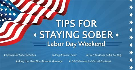tips for day tips for staying sober labor day weekend