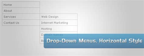 horizontal website tutorial jquery drop down menus horizontal style tutorialchip