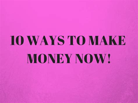10 Ways To Make Money While Out Of Work by 10 Ways To Make Money Now Camilla Kristiansen