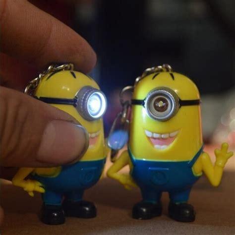 Loght Doll Minion minions baby new light sound doll key ring minions