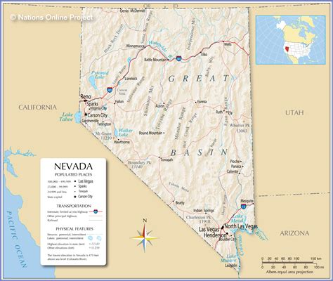 unr map reference map of nevada usa nations project