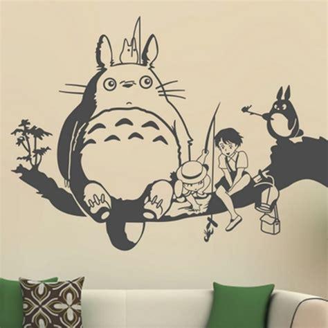 Totoro Wall Sticker 2015 free shipping creative new diy wall art miyazaki