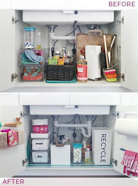 under kitchen sink organizing ideas 1000 ideas about kitchen sink organization on pinterest