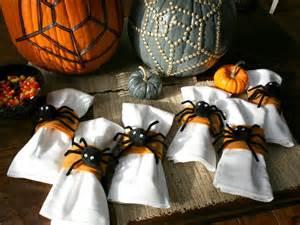 home made halloween decor how to make spider napkin rings hgtv