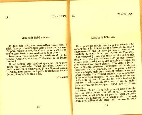 lettere d pessoa travail d atelier sur les lettres d amour a ophelia de